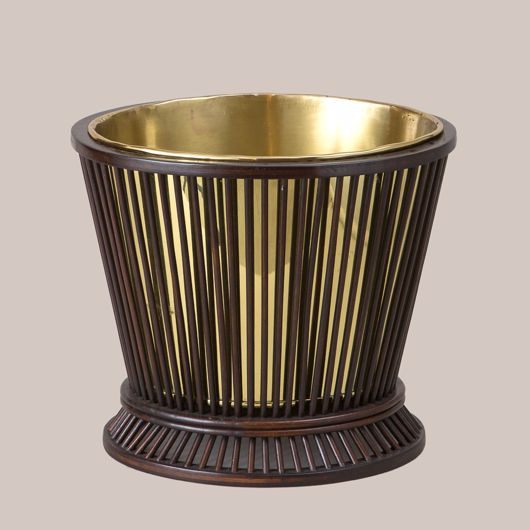 Picture of REEDED BASKET WITH BRASS LINER