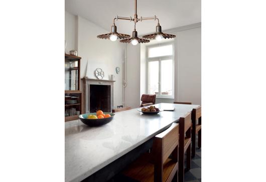 Picture of CIVETTA - SUSPENSION BRASS LAMP