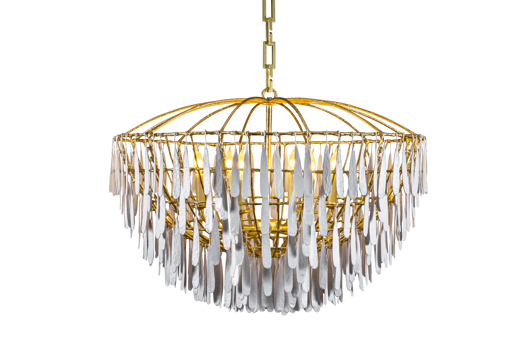 Picture of CUSTOM GILDED CAGE CHANDELIER TWO TONE FINISH