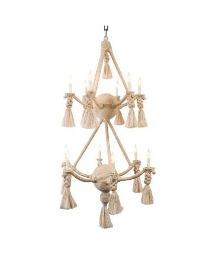 Picture of CUSTOM TWO TIER LARGE ROPE CHANDELIER