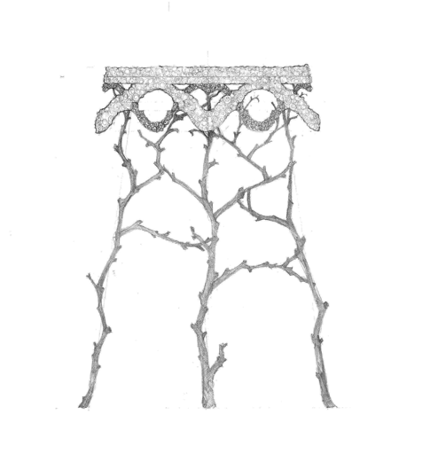 Picture of FANTASY TWIG & SEASHELL TABLE CONCEPT BY ANDREW FISHER