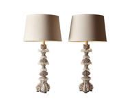 Picture of SEASHELL ENCRUSTED TABLE LAMPS