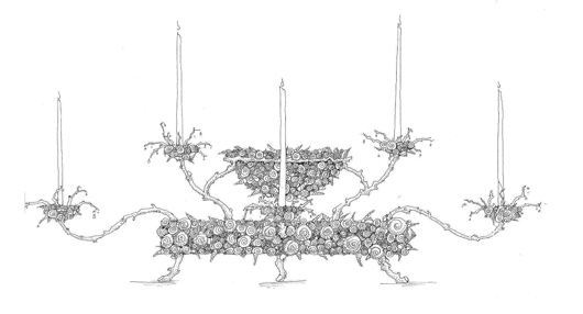 Picture of FANTASY CANDELABRUM CONCEPT BY ANDREW FISHER
